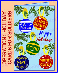 holiday cards for soldiers